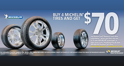 Michelin $70 Fall Rebate