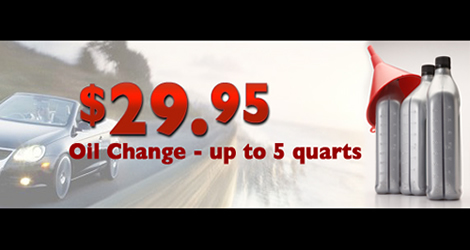 29.95 Oil Change - Up to 5 qts